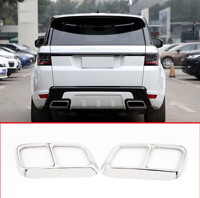 Range Rover Sport 2018 2019 double exhaust trim cover chrome tips