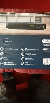Majority Towers Compact DVD Player - Black