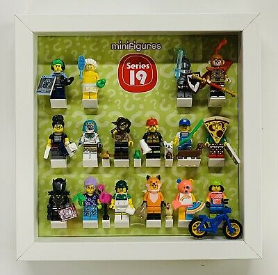 Minifigures Display Frame Lego Series 19 71025 minifigs figures with pet bricks