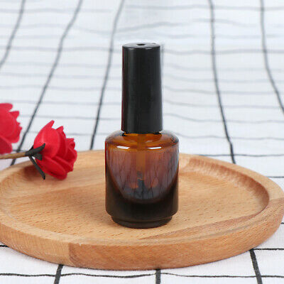 15ml empty nail polish bottle brown glass with brush to fill manicure tools~GN