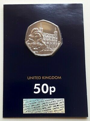 NEW 2019 PADDINGTON AT THE TOWER UK 50p COIN - CERTIFIED BU - ENCAPSULATED