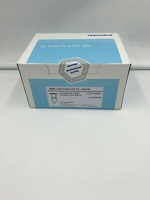 (500) Eppendorf Safe-Lock Tubes 0.5mL, Natural Microcentrifuge Tube 022363611