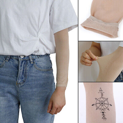1Pcs Skin Forearm Tattoo Cover Up Compression Sleeves Band Concealer Support~GN