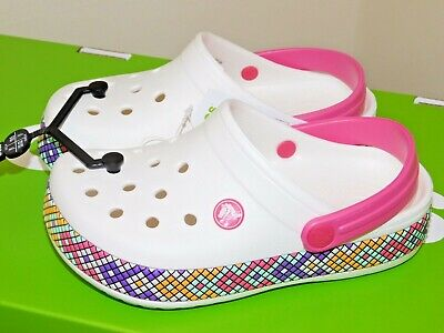 Crocs Kids Girls Crocband Gallery Clog Bnwt 8 Sizes 100% Genuine Crocs