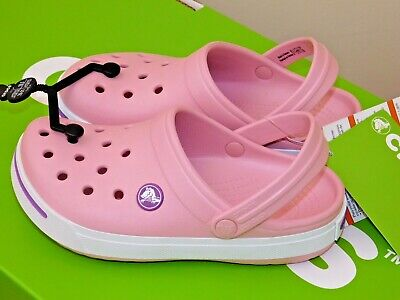 Crocs Kids Girls Crocband Gallery Clog Bnwt 8 Sizes 100% Genuine Crocs Pink