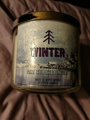 Bath & Body Works Winter  3 wick 14.5 oz candle made with essential oils