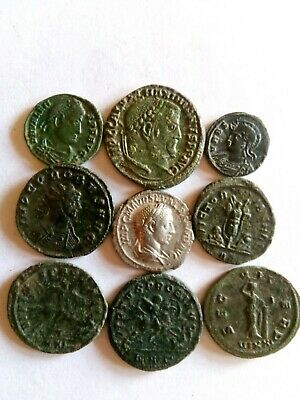 074.Lot of 9 Ancient Roman Coins,EF,Silver Sev.Alexander