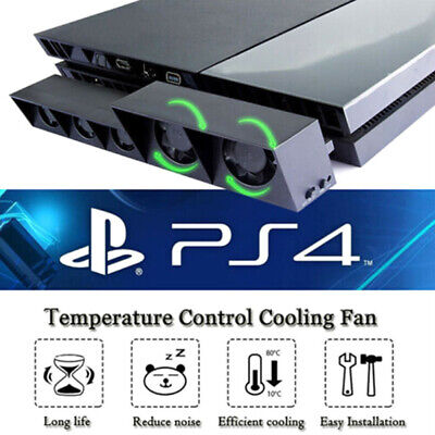 PS4 5-Fan playstation cooling external turbo temperature cooler thermostat fa~GN