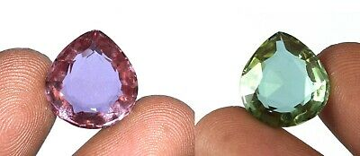 Russian 10 Ct/15mm Color Changing Alexandrite Pear Gemstone AGI Certified K2793
