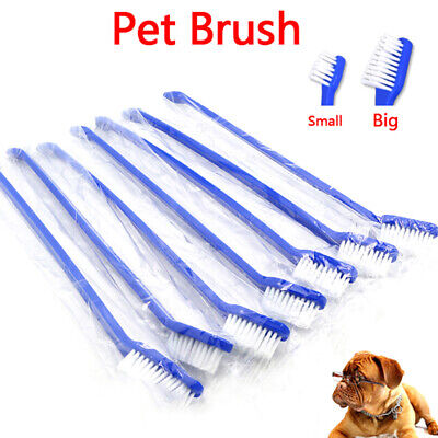 1Pcs dual end cat dog puppy toothbrush dental grooming tooth brush~GN