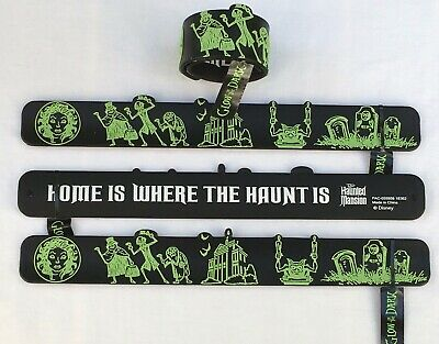 Disney Parks Haunted Mansion Ghosts 2019 One (1) Slap Bracelet Glows in the Dark