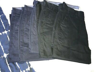 5 pairs of Mens black & navy blue Next Slim fit stretch chino trousers Size 30R