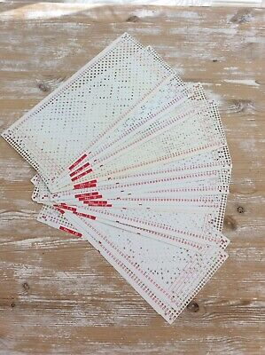 Set Of Punchcards For Knitting Machine 1-18 (16 Cards In Total)