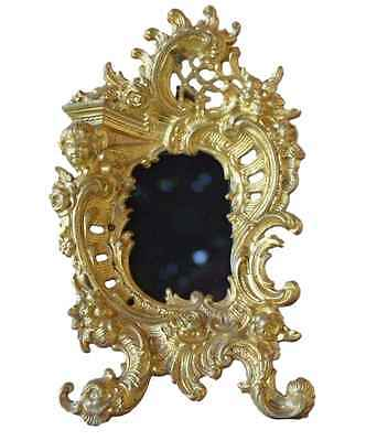 Antique French Decorative Rococo Ormolu Bronze Photo Picture Frame 19th.c