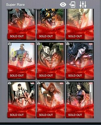 Topps Marvel Collect X-Force Full 1st Printing Set  with Deadpool Award Digital