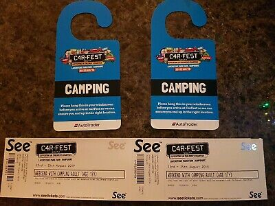 CARFEST SOUTH. 6 adult tickets with weekend camping. Price is per ticket.