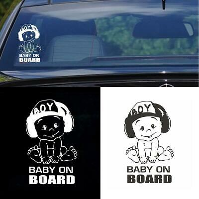 """Creative 4.7""""x7"""" BABY ON BOARD Funny PET Car Vehicle Sticker Warning Sign Decals"""
