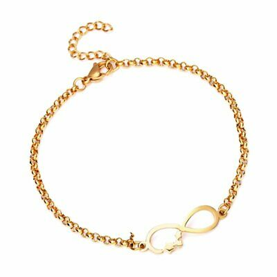 Women Stainless Steel Adjustable Chain Cuff Bracelet Bangle Fashion Jewelry Hot
