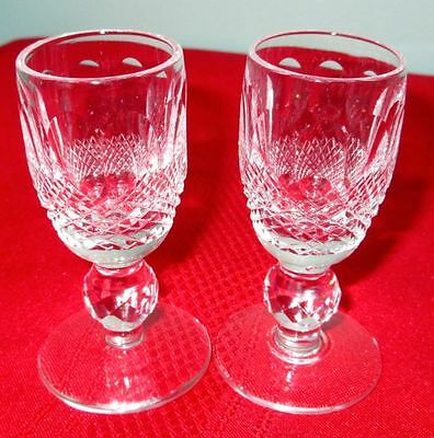 "WATERFORD Pair of Crystal Shots 3.4"" Vintage, England"