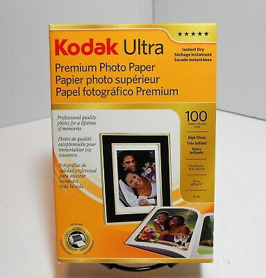 "Kodak Ultra Premium Photo Paper, 4"" x 6"", 100 Sheets, High Gloss, 74lb,  NEW"