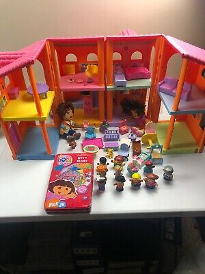 2007 Mattel Dora The Explorer Doll House With Many Accessories (huge)