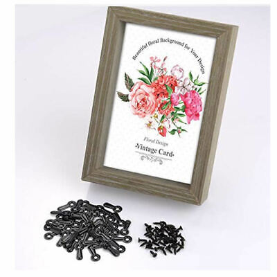 100 Pieces Frame Picture Turn Button with Screws for Hanging Pictures