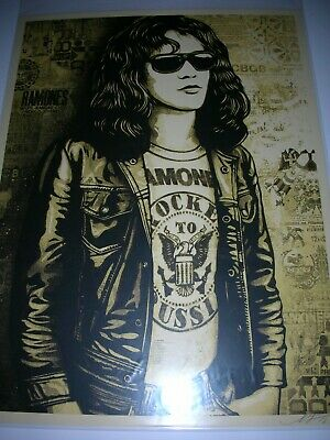 Shepard Fairey / OBEY Poster Tommy Ramone 2016 Signed Silk Screen Print Set