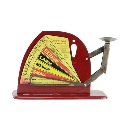 Vintage Style Jiffy Way Metal Poultry Egg Weighing Scale Rustic Farmhouse Decor