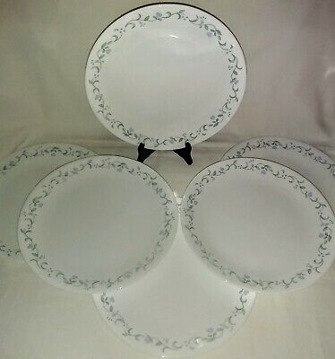 """Corelle 10 1/4"""" Country Cottage Blue Hearts & Ivy Dinner Plates Set of 6"""