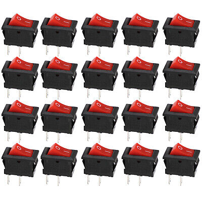 20pcs 2 Pin 12V Car Boat Round Dot Light ON/OFF Rocker Toggle Switch Tool