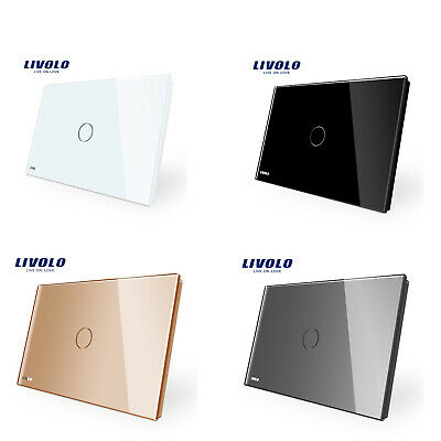 LIVOLO AU Type 1Gang 2way Australia Touch Wall Light Switch 4Colors