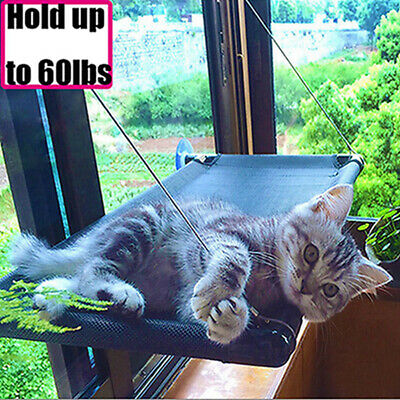 Pet Cat Window Mounted Durable Soft Seat Hammock Perch Bed Hold Up To 60lbs