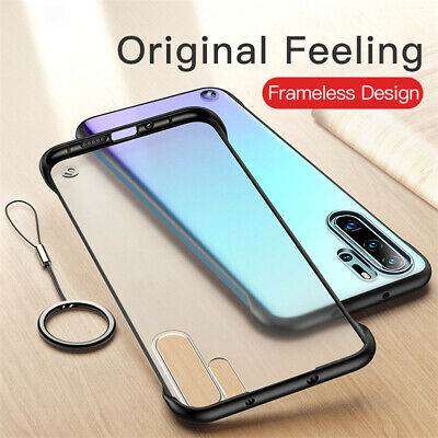 Ultra Thin Frameless Case For Samsung Note 10 Huawei P30 Transparent Matte Cover