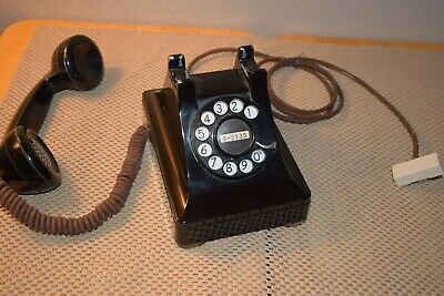VINTAGE ALL NUMERAL zinc alloy DESK PHONE F-1 Bell System