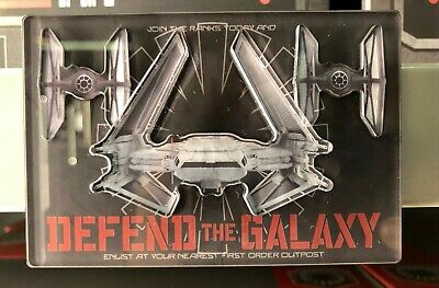 Star Wars: Galaxys Edge - First Order TIE Fighter Defend the Galaxy Magnet