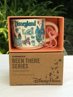 "Disney Starbucks Been There Series ""Disneyland"" 2 oz Mini Mug Ornament NIB"