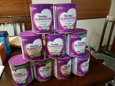 Nine (9) 12.1 oz Cans Of Similac Alimentum Colic HYPOALLERGENIC $250 Value