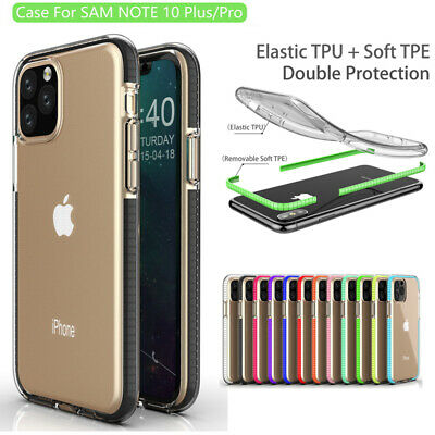 Colorful Bumper Clear Soft Cover Case For iPhone 11 Pro Max XS Max XR X 7 8 Plus