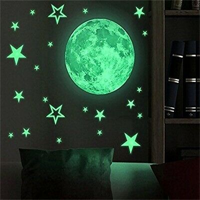 New Glow In The Dark Luminous Stars And Planet Moon Space Wall Stickers Decal