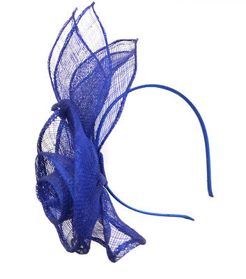 Large Royal Blue Headband Fascinator Ladies Day Races Ascot Weddings