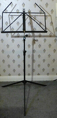 Music Stand: Good Quality, Steel, Black colour, Music tray approx. 15 mm.