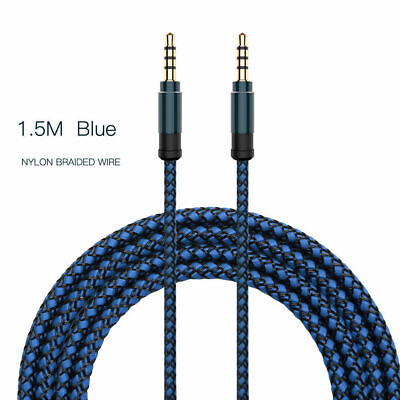3.5mm Stereo Audio Cable Braided Male Male Aux Jack Code High Quality HOT sale