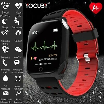 New F16 SmartWatch ECG+PPG Blood Pressure IP68 Magnetic charging For IOS Android