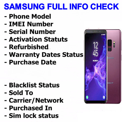 INSTANT FAST SAMSUNG Imei Check Network Carrier Model Icloud