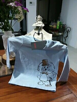 Baby Boys Pale Blue Lion Top .Size 6Mths. Esprit Brand.new With Tags.
