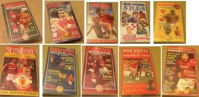 Manchester United VHS Videos Joblot Giggs Year end