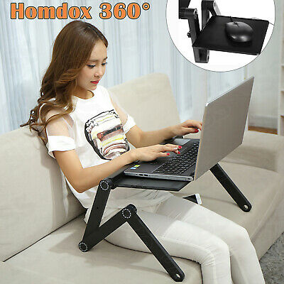 Laptop Notebook Adjustable Folding Desk Table Stand Bed Tray with Cooling Fan US
