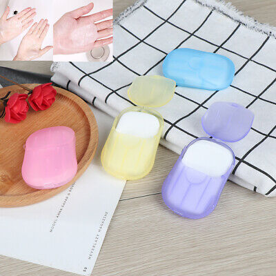 Travel Soap Scented Slice Sheets 20pcs Outdoor Paper Washing Hand Bath Clean~GN