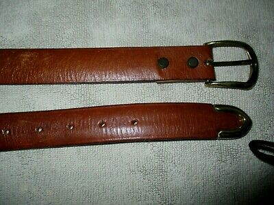 """Byblos Mens Top Quality Italian Brown Leather Belt Up To 38"""" Vgc Made In Italy"""