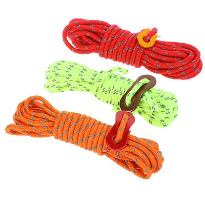 1set 4M Multifunction Tent Rope Reflective Rope Tent Outdoor Sports Tent Rope~GN
